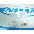 UNIMAX CONECTORES RJ45 CAT5E SPR